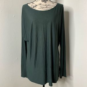 VINCE | Forrest Green Long Sleeve Tunic Large